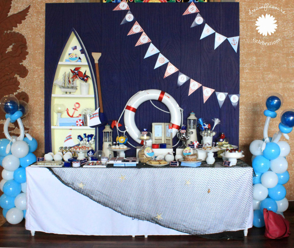Sailor Bear Birthday Party via Kara's Party Kara'PartyIdeas.com #sailor #bear #birthday #party #planning #ideas #supplies (3)