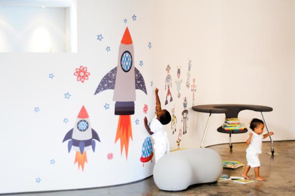 Chic Fabric Wall Art via Kara's Party Ideas | KarasPartyIdeas.com #chic #Fabric #vinyl #wall #art #promo #discount (3)