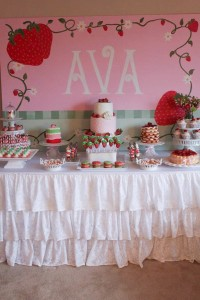 Strawberry Shortcake Birthday Party via Kara