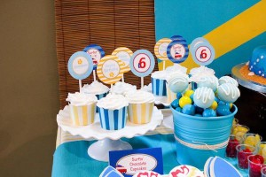 Surf themed birthday party via Kara's Party Ideas KarasPartyIdeas.com #surf #themed #birthday #party #ideas #cake #supplies #idea-3_600x400