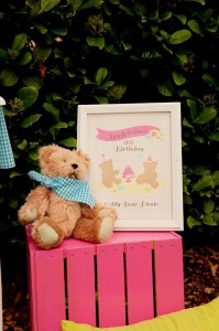 Teddy Bear Picnic 3rd Birthday Party via Kara's Party Ideas | Kara'sPartyIdeas.com #teddy #bear #picnic #3rd #birthday #party #supplies #ideas (20)