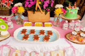 Teddy Bear Picnic 3rd Birthday Party via Kara's Party Ideas | Kara'sPartyIdeas.com #teddy #bear #picnic #3rd #birthday #party #supplies #ideas (9)