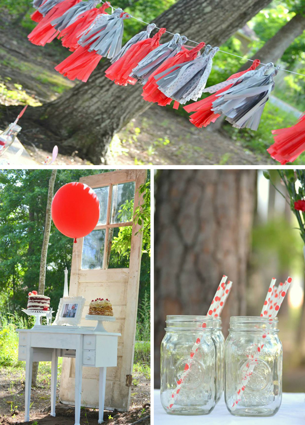 The Red Balloon Party with lots of cute Ideas via Kara's Party Ideas | KarasPartyIdeas.com #the #red #balloon #party #ideas #supplies