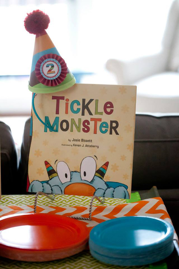 Tickle Monster Second Birthday Party via Kara's Party Ideas | Kara'sPartyIdeas.com #tickle #monster #birthday #party #supplies #ideas (20)