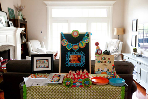 Tickle Monster Second Birthday Party via Kara's Party Ideas | Kara'sPartyIdeas.com #tickle #monster #birthday #party #supplies #ideas (18)