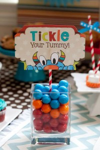 Tickle Monster Second Birthday Party via Kara's Party Ideas | Kara'sPartyIdeas.com #tickle #monster #birthday #party #supplies #ideas (15)
