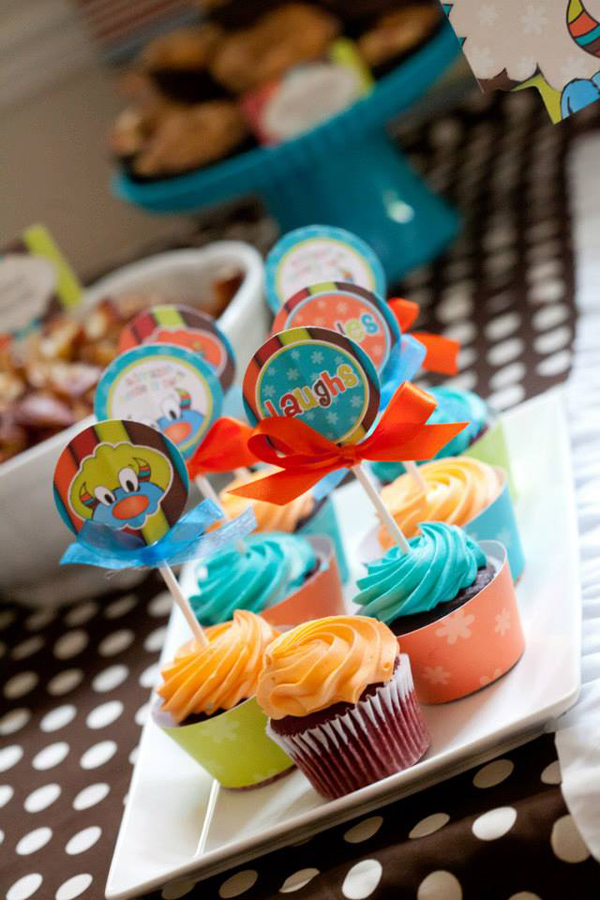 Tickle Monster Second Birthday Party via Kara's Party Ideas | Kara'sPartyIdeas.com #tickle #monster #birthday #party #supplies #ideas (13)