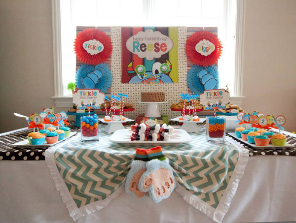 Tickle Monster Second Birthday Party via Kara's Party Ideas | Kara'sPartyIdeas.com #tickle #monster #birthday #party #supplies #ideas (8)