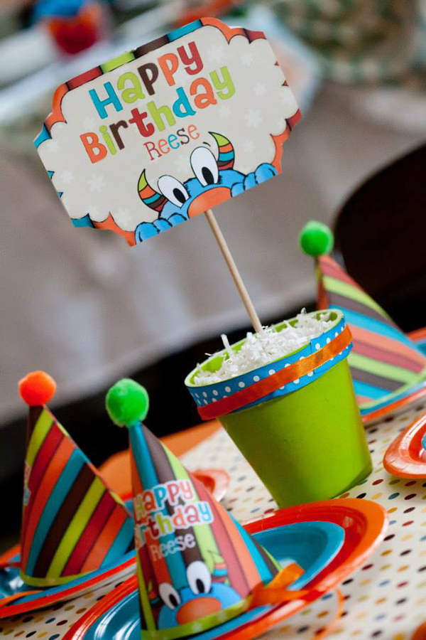 Tickle Monster Second Birthday Party via Kara's Party Ideas | Kara'sPartyIdeas.com #tickle #monster #birthday #party #supplies #ideas (27)