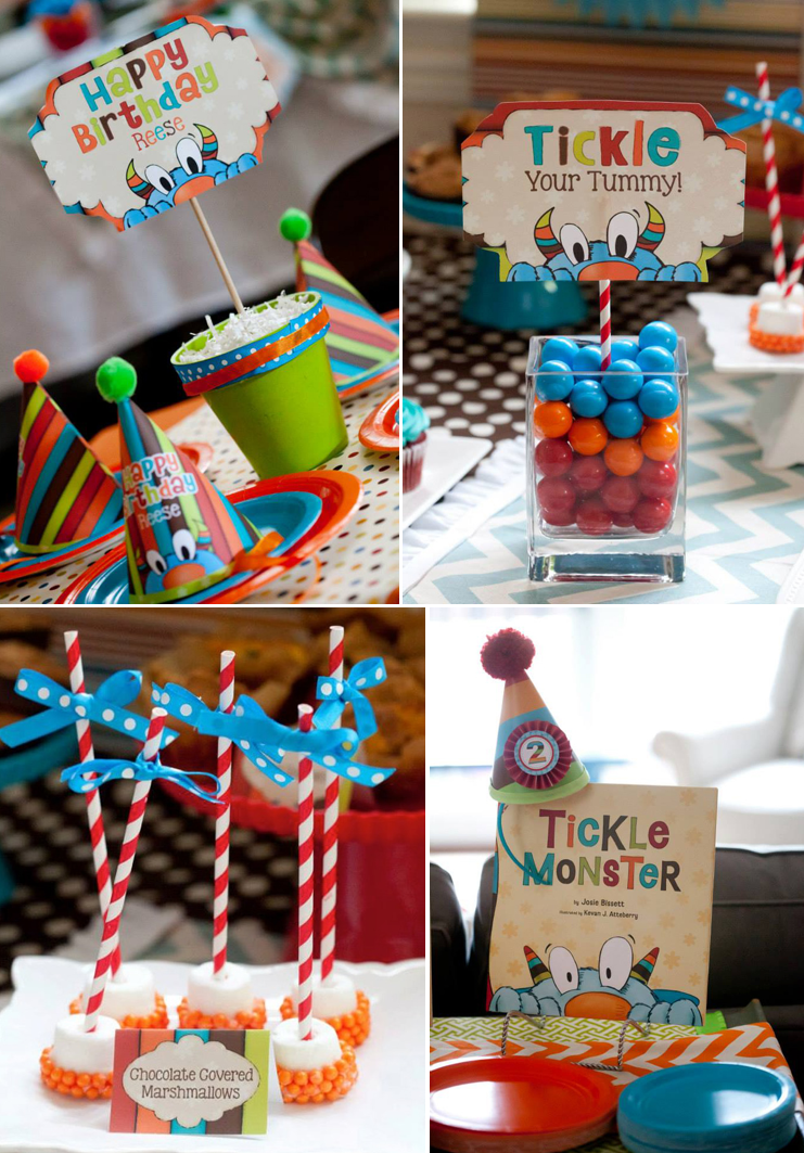 Kara S Party Ideas Tickle Monster Themed Birthday Party