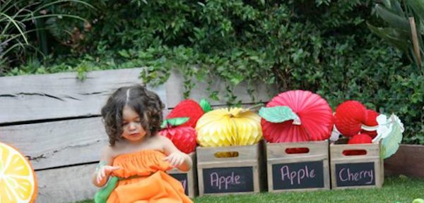 Tutti Frutti Fruit Themed Birthday Party with TONS of CUTE ideas! Via Kara's Party Ideas www.KarasPartyIdeas.com #fruity #tuti #fruit #themed #birthday #party #ideas #idea