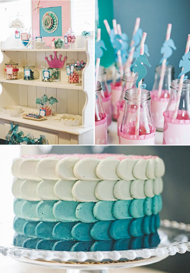 Under The Sea Mermaid Themed Birthday Party FULL Of Cute Ideas Via Karas