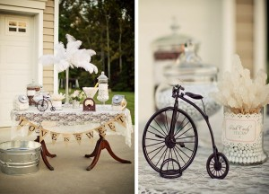 Vintage Backyard Wedding with Really Cute Ideas via Kara's Party Ideas | Kara'sPartyIdeas.com #vintage #backyard #wedding #supplies #ideas