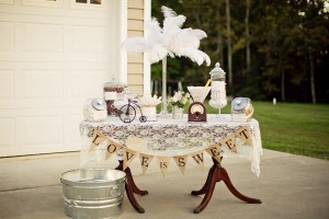 Vintage Backyard Wedding via Kara's Party Ideas | Kara'sPartyIdeas.com #vintage #backyard #wedding #supplies #ideas (5)