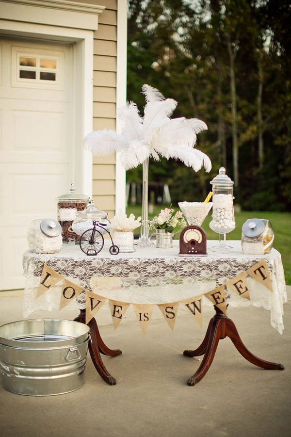 Vintage Backyard Wedding Ideas : Karas Party Ideas Vintage Backyard Wedding Table Party Planning Ideas