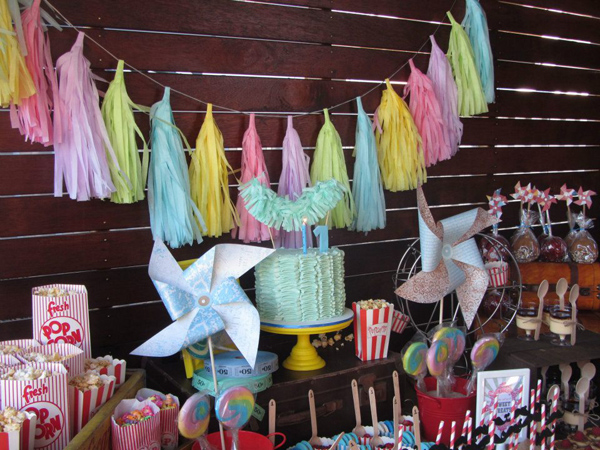 Vintage Carnival Birthday Party via Kara's Party Ideas | Kara'sPartyIdeas.com #vintage #carnival #birthday #party #supplies #ideas (36)