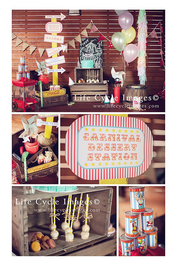 Vintage Carnival Birthday Party with Lots of Ideas via Kara's Party Ideas | Kara'sPartyIdeas.com #vintage #carnival #birthday #party #supplies #ideas
