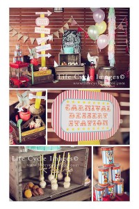 Vintage Carnival Birthday Party with Lots of Ideas via Kara