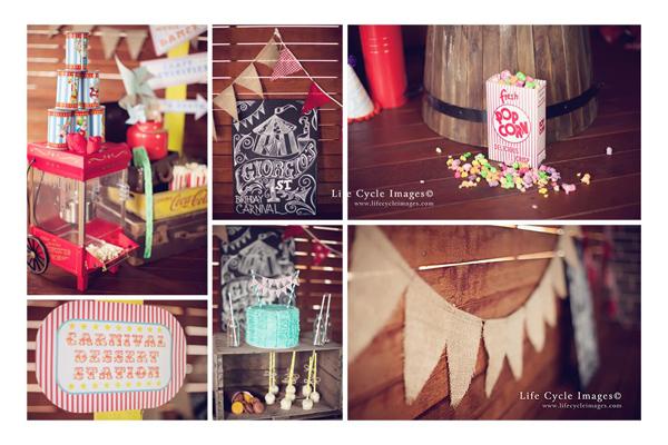 Vintage Carnival Birthday Party via Kara's Party Ideas | Kara'sPartyIdeas.com #vintage #carnival #birthday #party #supplies #ideas (30)