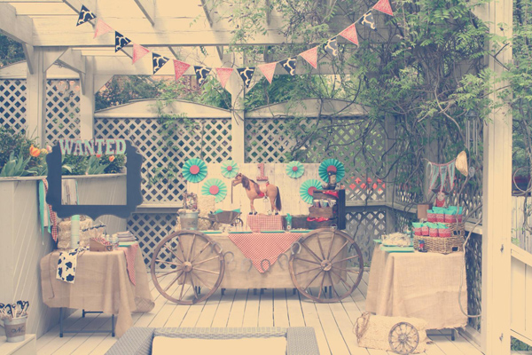 Karas Party Ideas Vintage Cowboy First Birthday Party Planning