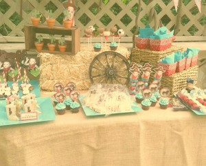 Vintage Cowboy First Birthday Party via Kara's Party Ideas | Kara'sPartyIdeas.com #vintage #cowboy #first #birthday #party #supplies #ideas (12)