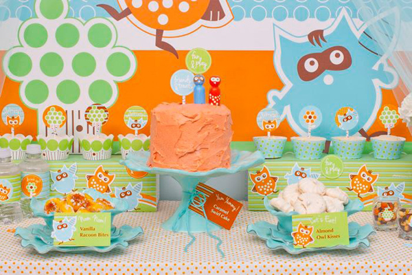 Woodland Creatures Birthday Party via Kara's Party Ideas | Kara'sPartyIdeas.com #woodland #creatures #birthday #party #supplies #ideas (8)