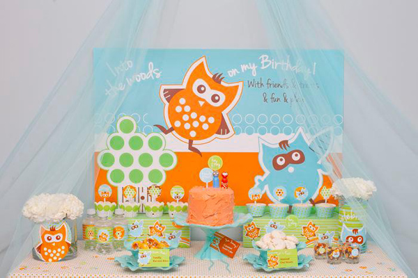 Woodland Creatures Birthday Party via Kara's Party Ideas | Kara'sPartyIdeas.com #woodland #creatures #birthday #party #supplies #ideas (15)