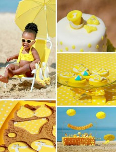 Yellow Polka Dot Bikini Party with LOTS of REALLY Cute Ideas via Kara's Party Ideas | Kara'sPartyIdeas.com #yellow #polka #dot #bikini #party #supplies #ideas