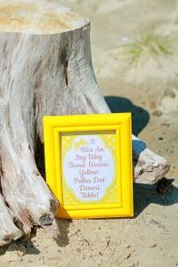 Yellow Polka Dot Bikini Party via Kara's Party Ideas | Kara'sPartyIdeas.com #yellow #polka #dot #bikini #party #supplies #ideas (13)