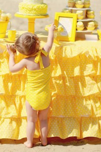 Yellow Polka Dot Bikini Party via Kara's Party Ideas | Kara'sPartyIdeas.com #yellow #polka #dot #bikini #party #supplies #ideas (7)