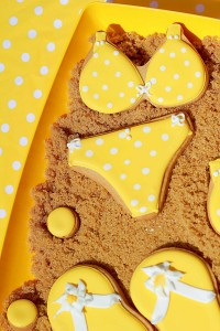 Yellow Polka Dot Bikini Party via Kara's Party Ideas | Kara'sPartyIdeas.com #yellow #polka #dot #bikini #party #supplies #ideas (6)
