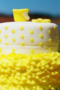 Yellow Polka Dot Bikini Party via Kara's Party Ideas | Kara'sPartyIdeas.com #yellow #polka #dot #bikini #party #supplies #ideas (4)