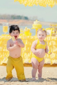 Yellow Polka Dot Bikini Party via Kara's Party Ideas | Kara'sPartyIdeas.com #yellow #polka #dot #bikini #party #supplies #ideas (16)