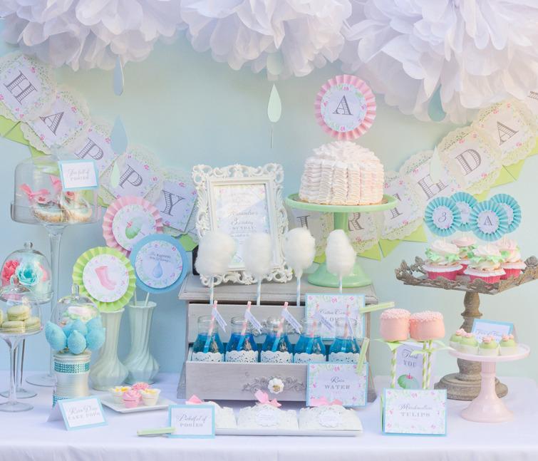 Karau0027s Party Ideas April Showers Birthday Party   Baby Shower, Sprinkle  Party | Karau0027s Party Ideas