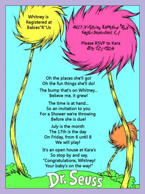 Kara S Party Ideas Dr Seuss Baby Shower Invitation Kara
