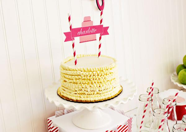 Karas Party Ideas Bake Shop Girl Sophisticated 5th Birthday Planning