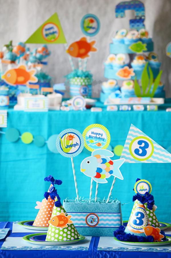 Karas Party Ideas Rainbow Fish 3rd Birthday Party Karas Party Ideas