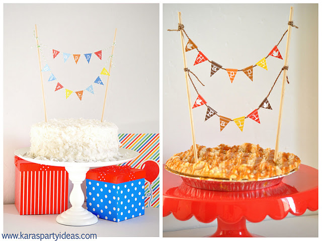 Kara's Party Ideas FREE- Mini Cake Pennant Bunting For