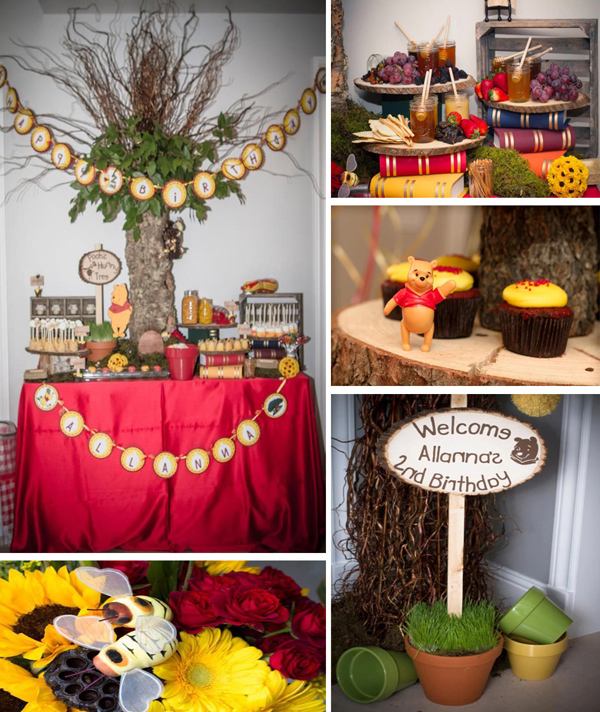 Winnie The Pooh Hundred Acre Wood Party with Lots of Ideas via Kara's Party Ideas | Kara'sPartyIdeas.com #winnie #the #pooh #hundred #acre #wood #ideas #supplies