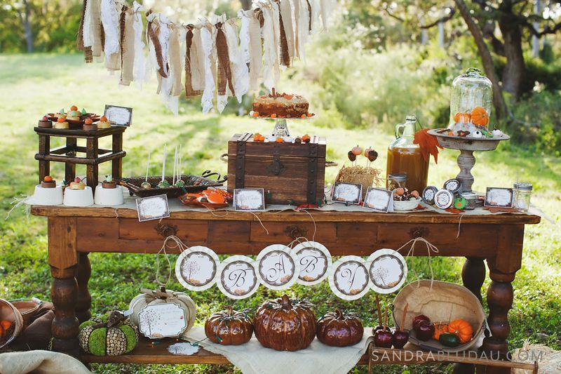 Karas Party Ideas Rustic Fall Thanksgiving Dessert Baby Shower Planning