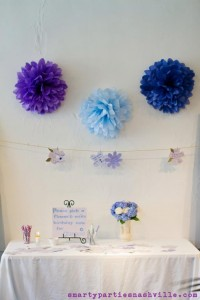 Hydrangea Garden Birthday Party via KarasPartyIdeas.com #hydrangea #birthday #party #idea (19)