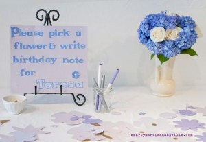 Hydrangea Garden Birthday Party via KarasPartyIdeas.com #hydrangea #birthday #party #idea (18)