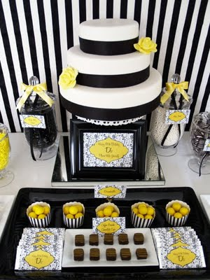 Kara S Party Ideas Black White Amp Yellow 60th Birthday