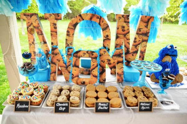 Cookie Monster Party via Kara's Party Ideas | KarasPartyIdeas.com #chic #girl #blue #DIY #cookie #monster #party #ideas (2)