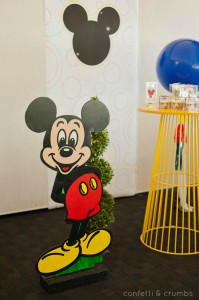 Mickey Mouse Birthday Party via Kara's Party Ideas #MickeyMouse #party #planning #FirstBirthday #idea #PartyDecorations (23)