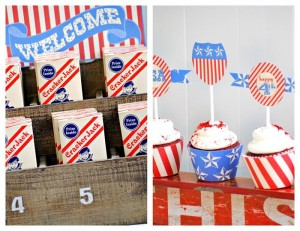 Stars & Stripes July 4th Party + FREE PRINTABLES via Kara's Party Ideas #4thofJuly #FreePrintables #StarsAndStripes #patriotic #party #idea (6)