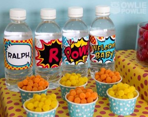 Supergirl / Superboy Baby Shower via Kara's Party Ideas #superhero #supergirl #Party #idea #supplies (23)