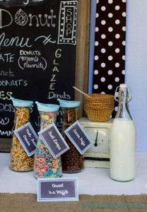 Milk & Doughnuts Party via Kara's Party Ideas #MilkAndDoughnuts #birthday #party #planning #idea #decorations (11)