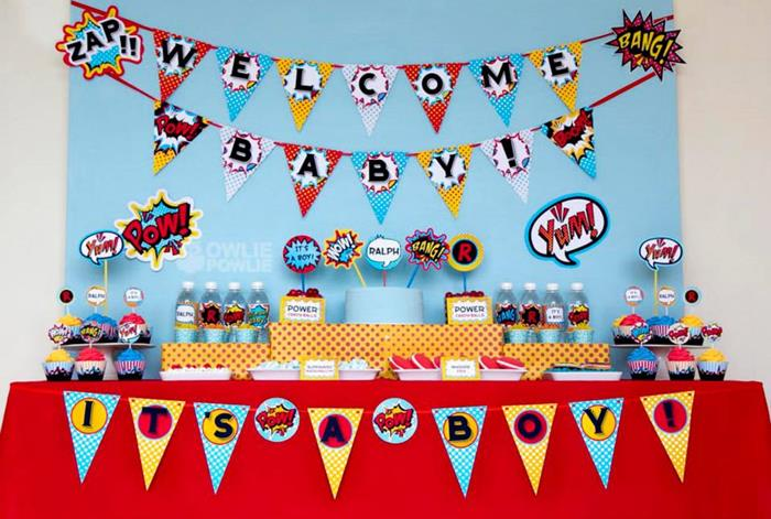 Baby Shower Decorations Superhero ~ Kara s party ideas supergirl superboy baby shower via