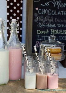 Milk & Doughnuts Party via Kara's Party Ideas #MilkAndDoughnuts #birthday #party #planning #idea #decorations (8)